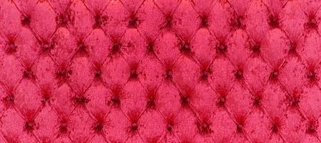 upholster: Close up shot of red velvet upholster