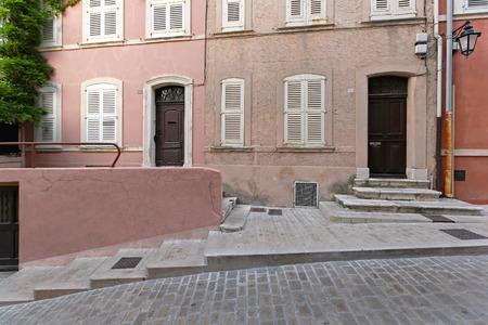 saint tropez: Small street in Saint Tropez at French Riviera
