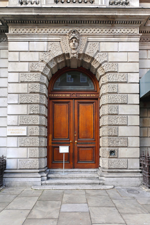 closed society: LONDON, UNITED KINGDOM - NOVEMBER 21  Geological Society London on NOVEMBER 21, 2013  Geological Society building at Piccadilly Street in London, United Kingdom  Editorial