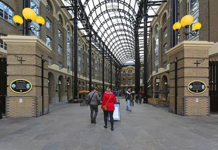 southwark: LONDON, UNITED KINGDOM - NOVEMBER 23  Hays Galleria London on NOVEMBER 23, 2013  Hays Galleria at Southwark in London, United Kingdom  Editorial
