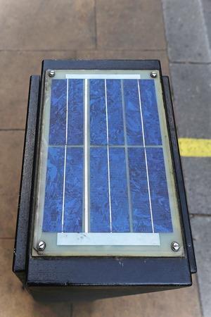 control box: Solar panel at top of traffic control box