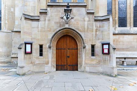 knights templar: Entrance in Knights Templar Church in London City Stock Photo