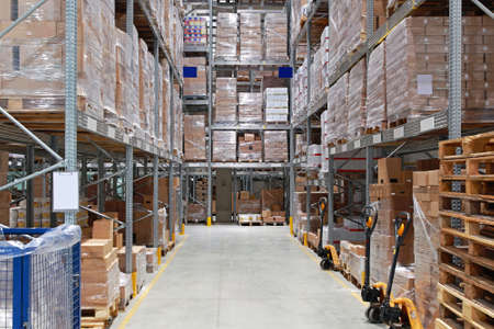 storage box: Storage shelving system in distribution warehouse