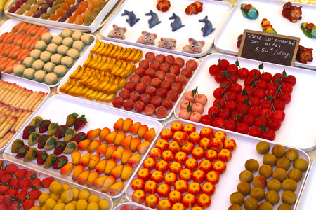 marzipan: Fruit shaped sweets made from almond marzipan