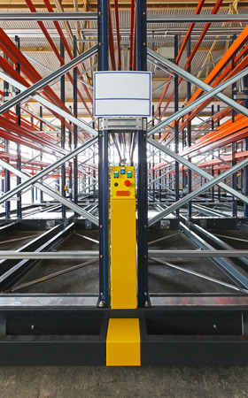shelving: Power control of mobile shelving system in warehouse