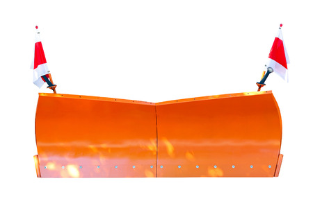 plows: Orange snowplow isolated including clipping path