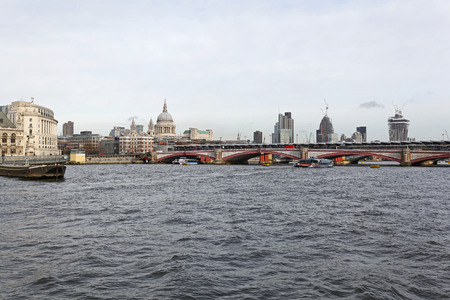 blackfriars bridge: Blackfriars Bridge and River Thames in London Stock Photo