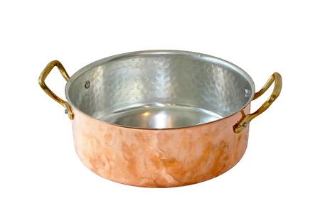 utensilios de cocina: Cacerola de cobre con dos asas