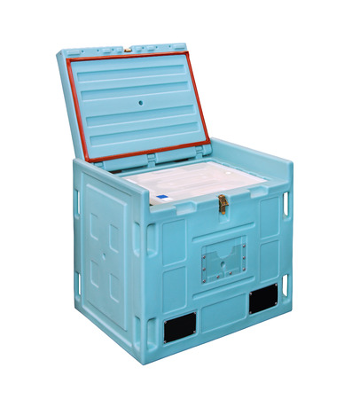 icebox: Insulated box for food transport isolated