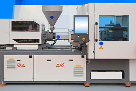 Injection molding machine for thermo plastic polymers photo