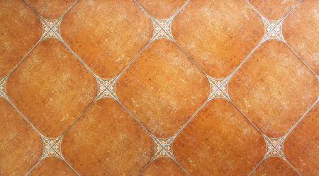 Rustic style terracotta tiles with rounded corners Stock Photo
