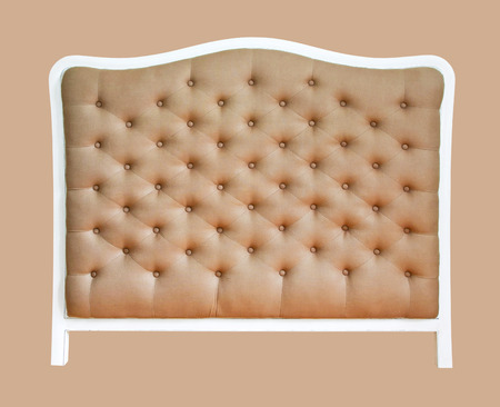 upholster: Upholster bed back isolated included clipping path Stock Photo