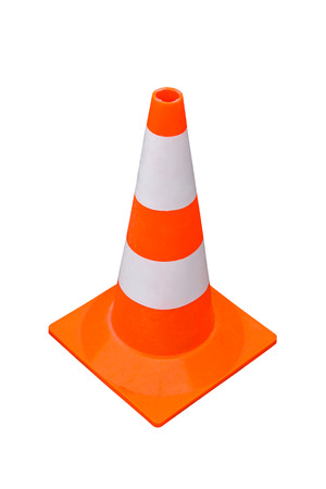 traffic cone: Traffic cone isolated included clipping path