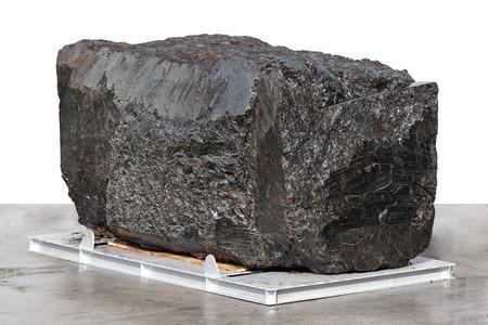 anthracite coal: Big block of black anthracite coal ore Stock Photo
