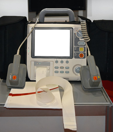 External defibrillator with monitor unit mediacal equipment photo