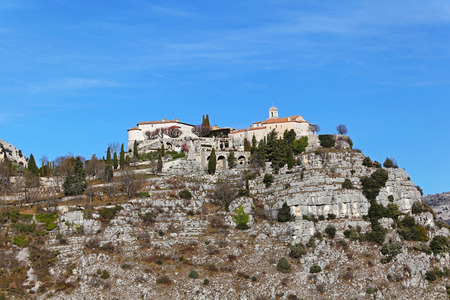 feudal: Village Gourdon at hill top in south France