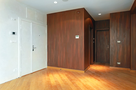 Entrance to  modern apartment with brown walls Stock Photo - 27942713