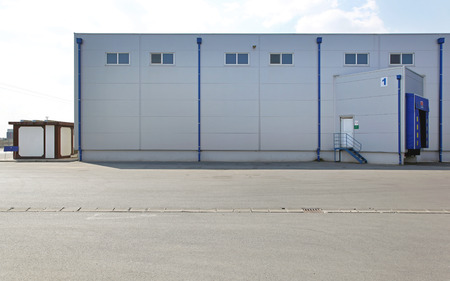buiding: Distribution warehouse buiding exterior with loading dock