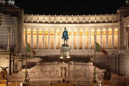 altar of fatherland: ROME, ITALY - OCTOBER 22  Altare della Patria in Rome on OCTOBER 22, 2009  Altar of the Fatherland Monument Victor Emmanuel II in Rome, Italy