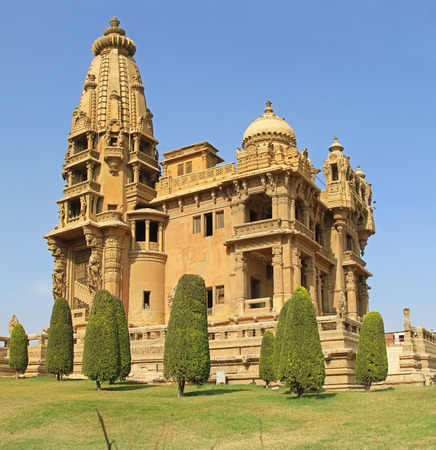 heliopolis: CAIRO, EGYPT - MARCH 03  Baron Palace in Cairo on MARCH 03, 2010  Abandoned Baron Empain Palace in Heliopolis City in Cairo, Egypt