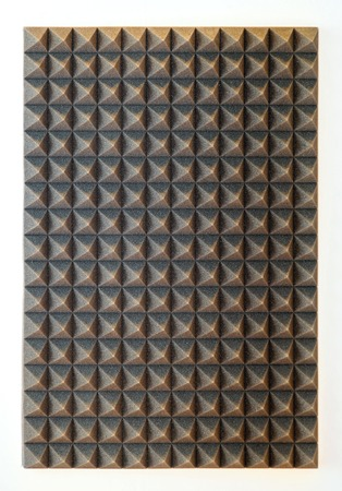 noise isolation: Sound absorbing sponge isolation for studio Stock Photo