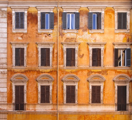 decayed: Decayed facade at old building in Rome