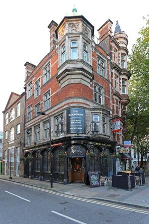ave: LONDON, UNITED KINGDOM - NOVEMBER 19  The Bloomsbury Tavern in London on NOVEMBER 19, 2013  Bloomsbury Tavern Shepherd Neame at Shaftsbury Ave in London, United Kingdom  Editorial