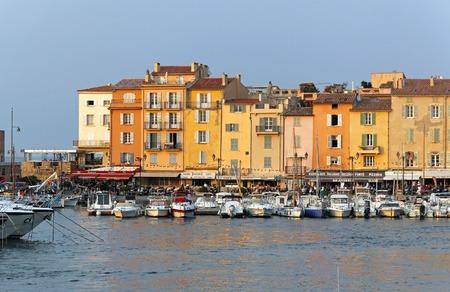 tropez: SAINT TROPEZ, FRANCE - JULY 12  Port in Saint Tropez on JULY 12, 2013  Harbor with boats in Saint Tropez, France
