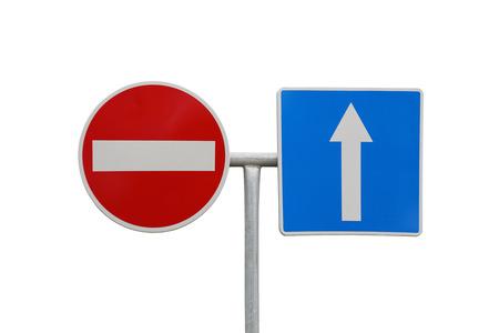 do not enter: Do not enter and arrow traffic signs