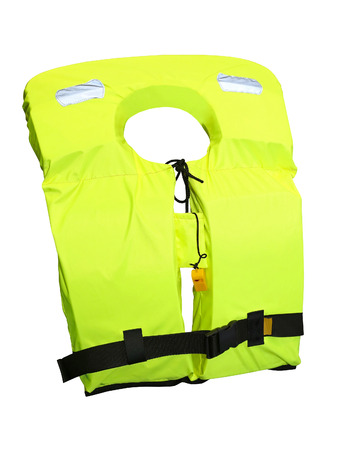 buoyancy: Life jacket isolated included clipping path Stock Photo