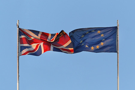 uk: UK and EU flags coalition together