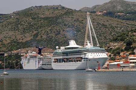 splendour: DUBROVNIK, CROATIA - JUNE 13: Splendour of the Seas on JUNE 13, 2010. Big cruise ship at port dock in Dubrovnik, Croatia.