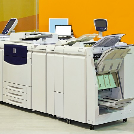 photocopy: Big digital printer machinery in copy office