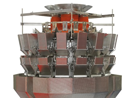 weigher: Food packing multihead hopper weigher machine