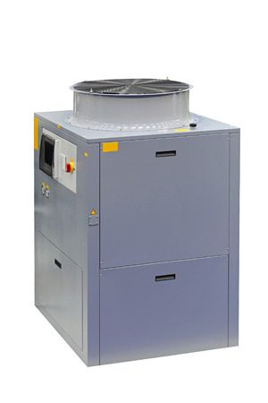 handler: Air handler unit isolated included clipping path Stock Photo