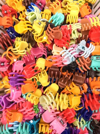 hair clip: Colorful plastic hair clips claws clamps