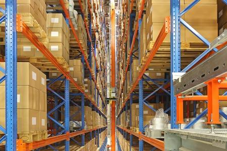 retrieval: Automated storage and retrieval system in distrbution warehouse