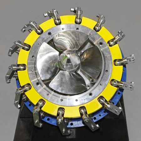 vane: Pipe turbine guide vane equipment Stock Photo