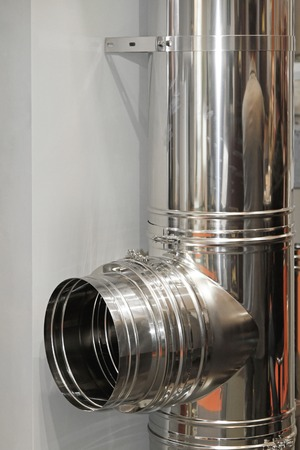 stove pipe: Stainless steel chimney stove pipe installation