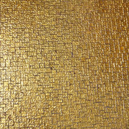 luxurious background: Luxurious golden tiles mosaic background Stock Photo