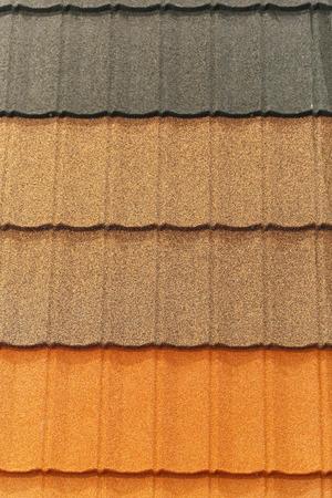 dauerhaft: Dauerhafte Dachschindeln in drei Farben Lizenzfreie Bilder