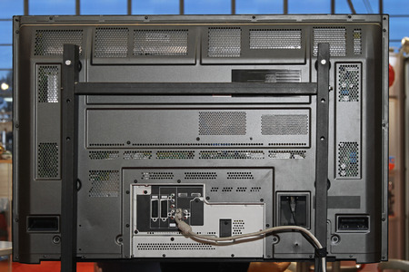 rear end: Rear end of LCD television set with mount