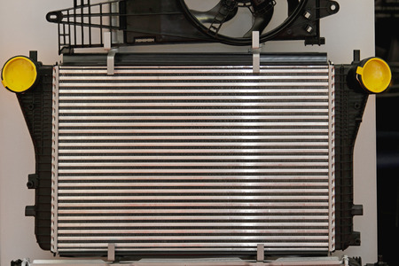 coolant: Aluminium car cooling radiator part