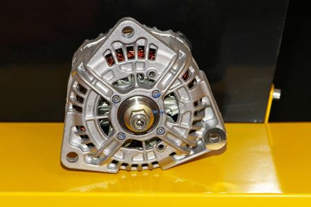 alternator: Close up shot of car alternator generator