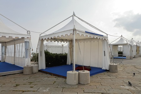 popup: White canopy tent for exibition event and party