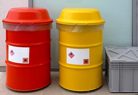 hazardous waste: Barrels for dangerous and hazardous waste disposal