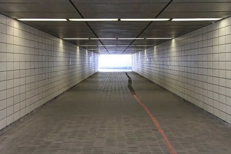 tunel: Subway underpass tunel passage for pedestrians Stock Photo