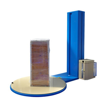 Pallet Stretch Wrapping machine isolated photo