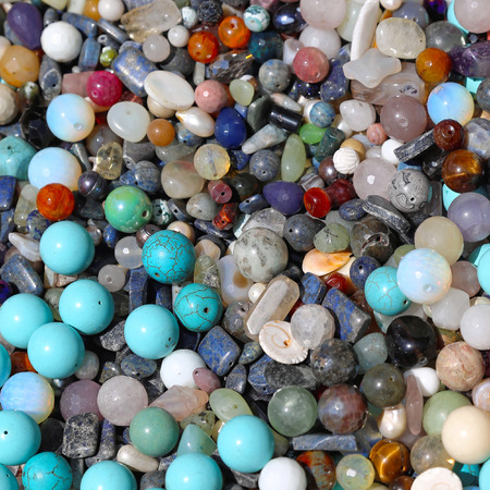 bijoux: Bunch of semi precious gem stones for jewellery making