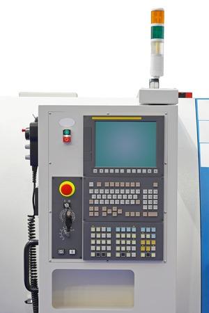 panel de control: Panel de control de la m�quina con el teclado y el monitor